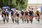 Italian and European Champion Giacomo Nizzolo (ITA) Team Qhubeka Assos wins Stage 13 of the 2021 Giro d'Italia, running 198km from Ravenna to Verona, Italy. 21st May 2021.  <br /> Picture: LaPresse/Massimo Paolone | Cyclefile<br /> <br /> All photos usage must carry mandatory copyright credit (© Cyclefile | LaPresse/Massimo Paolone)