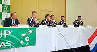 Austria, Kitzbuhel, Juli 16, 2015, Tennis, Davis Cup, Draw, Dutch team with Martin Koek (L)<br /> Photo: Tennisimages/Henk Koster