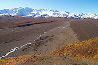 Polychrome mountains at Denali National Park.
