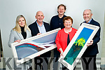 Winners of the Kerry's Eye John Hurley painting competition were Ciara O'Connor and Marian Gaynor pictured with, Brendan Kennelly, Kerry's Eye, John Hurley and Ger Colleran, Editor, Kerry's Eye.