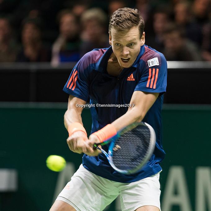 ABN AMRO World Tennis Tournament, Rotterdam, The Netherlands, 18 Februari, 2017, Tomas Berdych (CZE)<br /> Photo: Henk Koster