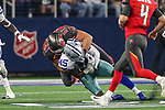 Tampa Bay Buccaneers offensive guard Zack Bailey (61) in action during the pre-season game between the Tampa Bay Buccaneers and the Dallas Cowboys at the AT & T Stadium in Arlington, Texas.