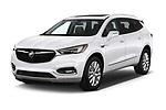 2018 Buick Enclave Premium 5 Door SUV angular front stock photos of front three quarter view