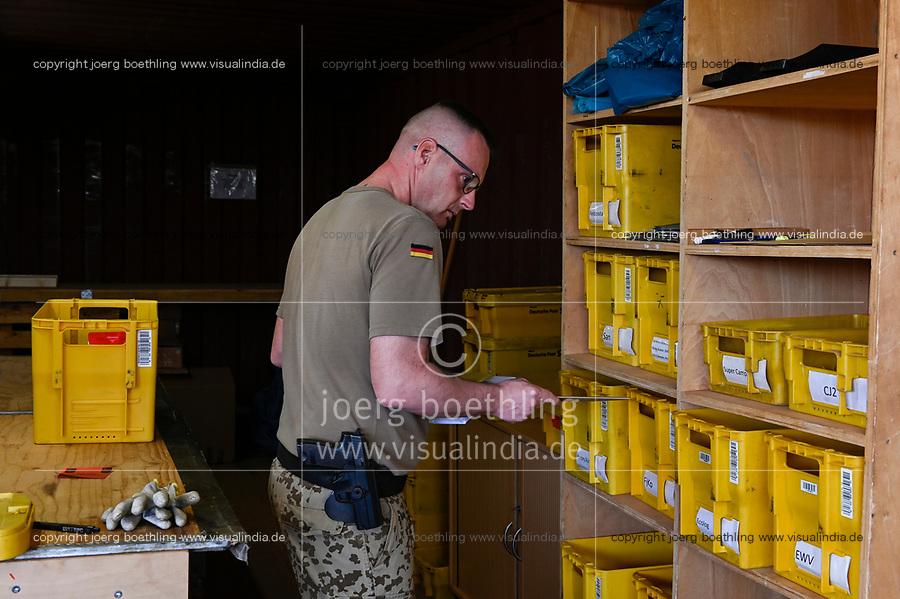 MALI, Gao, Minusma UN peace keeping mission, Camp Castor, german army Bundeswehr, field post office / Feldpostamt