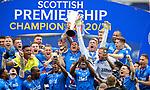 15.05.2021 Rangers v Aberdeen: James Tavernier and Allan McGregor with trophy