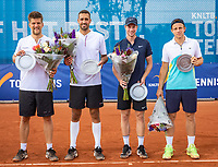 Amstelveen, Netherlands, 1 August 2020, NTC, National Tennis Center, National Tennis Championships, Men's Doubles final, ltr: winners Sander Arends (NED) and David Pel (NED) and runners up Botic van de Zandschulp (NED) and Tallon Griekspoor (NED)<br /> Photo: Henk Koster/tennisimages.com