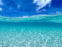Water and Sky.Hawksnest Bay, St John