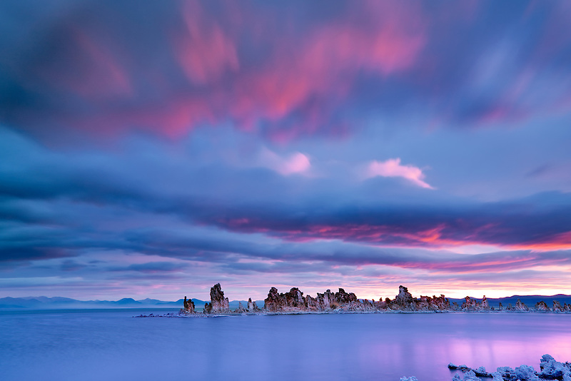 Sunrise on mono Lake. California