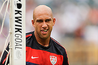United States goalkeeper Tim Howard (1) prior to an international friendly between the men's national teams of the United States (USA) and Turkey (TUR) at Lincoln Financial Field in Philadelphia, PA, on May 29, 2010.