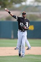 Alexei Ramirez. Chicago White Sox spring training game vs. Oakland Athletics at Phoenix Municipal Stadium, Phoenix, AZ - 03/10/2010.Photo by:  Bill Mitchell/Four Seam Images.