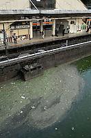 CENTRAL TOKYO  POLLUTION RIVER, TOKYO JAPAN