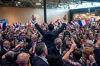 MEETING DE FRANCOIS FILLON A LYON, FRANCE, 12/04/2017. ARRIVEE DE FRANCOIS FILLON