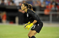 Hope Solo (1) of the USWNT.  The USWNT defeated Mexico 7-0 during an international friendly, at RFK Stadium, Tuesday September 3 , 2013.