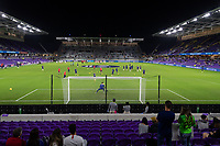 ORLANDO, FL - JANUARY 31: USMNT warm up prior to a game between Trinidad and Tobago and USMNT at Exploria stadium on January 31, 2021 in Orlando, Florida.