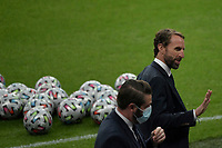 Gareth Southgate coach of England reacts prior to the Uefa Euro 2020 Final football match between Italy and England at Wembley stadium in London (England), July 11th, 2021. <br /> Photo Andrea Staccioli / Insidefoto