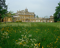 The east front of Badminton House overlooks the garden