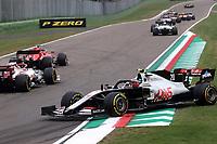 1st November 2020, Imola, Italy; FIA Formula 1 Grand Prix Emilia Romagna, Race Day;  collision between Sebastian Vettel GER  Scuderia Ferrari and Kevin Magnussen DNK 20 Haas F1 Team