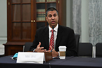 Ajit Pai, Chairman, Federal Communications Commission testifies during a United States Senate Committee on Commerce, Science, and Transportation oversight hearing to examine the Federal Communications Commission in Washington, DC on June 24, 2020. <br /> Credit: Jonathan Newton / Pool via CNP / Pool via CNP/AdMedia