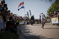 Mathieu Van Der Poel (NED/Correndon-Circus) solo's up the Gulpenerberg<br /> <br /> 54th Amstel Gold Race 2019 (1.UWT)<br /> One day race from Maastricht to Berg en Terblijt (NED/266km)<br /> <br /> ©kramon