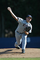Lauren Gagnier of the Cal State Fullerton Titans pitches during a 2004 season game against the Loyola Marymount Lions at Loyola Marymount in Los Angeles, California. (Larry Goren/Four Seam Images)