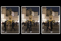 (This photo is an artificial collage of 3 frames placed side by side).<br />