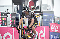 22th May 2021, Cittadella, Padua, Italy; Giro D Italia stage 14, Cittadella to Monte Zoncolan; Jumbo - Visma Bennett, George  at the finish line in Monte Zoncolan