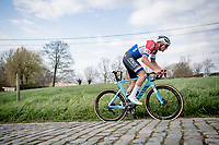 Mathieu Van der Poel (NED/Alpecin-Fenix) up the gutter on the Paterberg<br /> <br /> 64th E3 Classic 2021 (1.UWT)<br /> 1 day race from Harelbeke to Harelbeke (BEL/204km)<br /> <br /> ©kramon