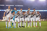 CARSON, CA - SEPTEMBER 21: Los Angeles Galaxy starting eleven during a game between Montreal Impact and Los Angeles Galaxy at Dignity Health Sports Park on September 21, 2019 in Carson, California.