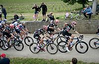 Hugh Carthy (GBR/EF Education - Nippo) crossing the local community of Spessa<br /> <br /> 104th Giro d'Italia 2021 (2.UWT)<br /> Stage 15 from Grado to Gorizia (147km)<br /> <br /> ©kramon