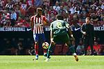 Atletico de Madrid's Thomas Lemar and SD Eibar's Papakouli Diop during La Liga match. September 15, 2018. (ALTERPHOTOS/A. Perez Meca)