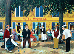 """""""Hotel Mistral""""<br /> Limited Edition Serigraph Paper 18x24<br /> SN $350"""