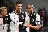 Cristiano Ronaldo and Leonardo Bonucci of Juventus <br /> Milano 6-10-2019 Stadio Giuseppe Meazza <br /> Football Serie A 2019/2020 <br /> FC Internazionale - Juventus FC <br /> Photo Andrea Staccioli / Insidefoto