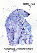 Simon, REALISTIC ANIMALS, REALISTISCHE TIERE, ANIMALES REALISTICOS, innovative, paintings+++++A_KatherineW_SplatterPolarBears,GBWR148,#a#, EVERYDAY