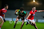 Paudie O'Leary, Kerry in action against Tommy Walsh, Cork during the Munster Minor Semi-Final between Kerry and Cork in Austin Stack Park on Tuesday evening.