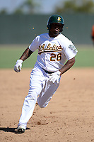 Oakland Athletics outfielder B.J. Boyd (26) during an instructional league game against the San Francisco Giants on September 27, 2013 at Papago Park Baseball Complex in Phoenix, Arizona.  (Mike Janes/Four Seam Images)