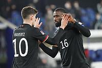 celebrate the goal, Torjubel zum 2:0 um Kai Havertz (Deutschland, Germany) mit Antonio Rüdiger (Deutschland Germany)- 25.03.2021: WM-Qualifikationsspiel Deutschland gegen Island, Schauinsland Arena Duisburg