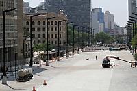 16.09.2020 - Obras no Vale do Anhangabaú em SP