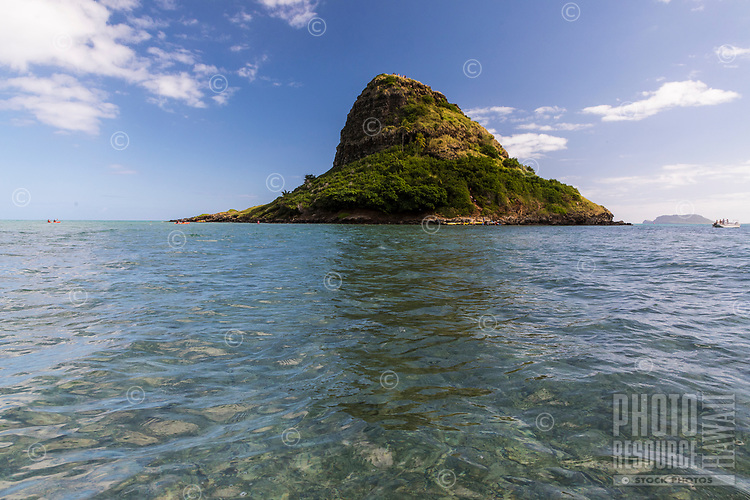 Chinaman's Hat (or Mokoli'i Island, from a kayaker's point of view, Kane'ohe Bay, Windward O'ahu.