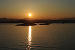 The sun rises over the coastline of Croatia as we sail into the city of Croatia.