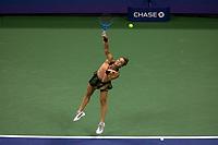 10th September 2021: Billie Jean King Centre, New York, USA: USA Open tennis championships, womens singles semi-final Emma Raducanu versus Maria Sakkari: Sakkari serves