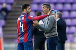 Levante UD's coach Juan Ramon Lopez Muniz with Rober Pier during La Liga Second Division match. March 11,2017. (ALTERPHOTOS/Acero)