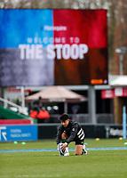 26th December 2020; Twickenham Stoop, London, England; English Premiership Rugby, Harlequins versus Bristol Bears; Marcus Smith of Harlequins warming up with practise kicking