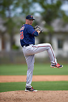 Minnesota Twins Anthony Mciver (68) during a minor league Spring Training intrasquad game on March 15, 2016 at CenturyLink Sports Complex in Fort Myers, Florida.  (Mike Janes/Four Seam Images)