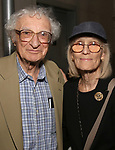 Sheldon Harnick and Margery Harnick attend the Opening Night of 'Hershey Felder As Irving Berlin' on September 5, 2018 at the 59E59 Theatre in New York City.