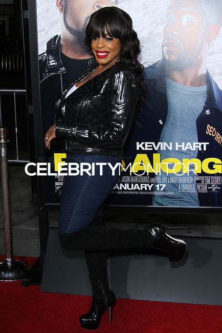 """HOLLYWOOD, CA - JANUARY 13: Niecy Nash at the Los Angeles Premiere Of Universal Pictures' """"Ride Along"""" held at the TCL Chinese Theatre on January 13, 2014 in Hollywood, California. (Photo by David Acosta/Celebrity Monitor)"""