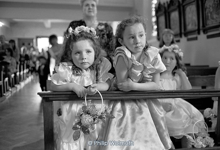 Bridesmaids at Theresa Gaffey's wedding, Dundalk, Ireland