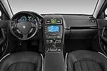Straight dashboard view of a 2009 Maserati Quattroporte S Sedan.