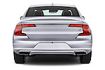 Straight rear view of 2017 Volvo S90 Inscription 4 Door Sedan Rear View  stock images