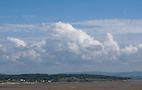 Clouds over the Lake District seen from  Arnside, Lancashire, UK.