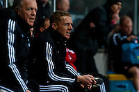 Saturday 8th February 2014<br /> Pictured: Garry Monk, Manager of Swansea City<br /> Re: Barclays Premier League Swansea City FC  v Cardiff City FC at the Liberty Stadium, Swansea